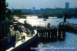 Southwark river front - zoom >