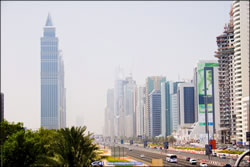 sheik zayed road dubai - zoom >